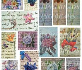 Flowerama- Digital Collage Sheet- Clip Art Elements- Digital Scrapbooking