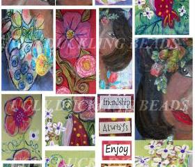 Louisiana Belle- Digital Collage Sheet - Original Art Work- Clip Art Elements- Digital Scrapbooking