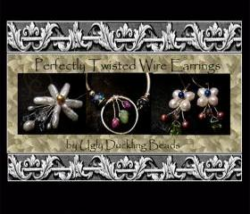 Perfectly Twisted Wire Earrings Tutorial- SRA