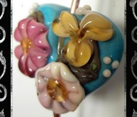 True Heart Lampwork Focal- SRA