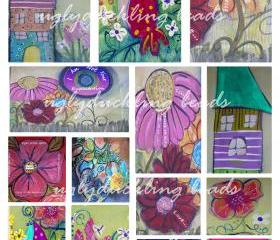 Digital Collage Sheet - Original Art Work- Clip Art Elements- Digital Scrapbooking---I Am Not Your Expectations