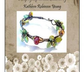 Bracelet Tutorial - Wire Wrapped bracelet- 'Wired Beads and Leaves' SRA