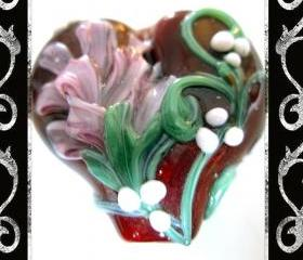 Heart felt Lampwork Focal- SRA
