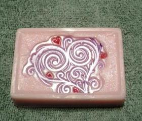 Valentine Soap - Fancy Heart Soap