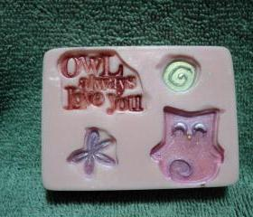 Valentine Soap - Owl Always Love You - Pink Sugar Scent