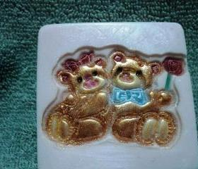 Valentine Soap - Bear Couple - Strawberries and Champagne Scent