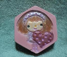 Valentine Soap - I Have a Heart Soap - Butterfly Kisses Scent