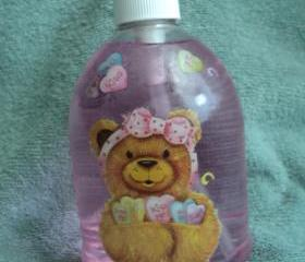 Valentine Soap - Valentine Bear Anti Bacterial Soap Pump - Berries and Cream Scent