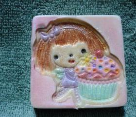 Sweet Fairy with Cupcake Soap - Raspberry Cream Cupcake Soap