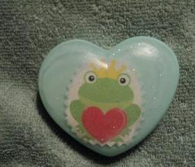 Valentine Soap -Frog Prince Soap - Berries N Cream Scent