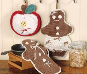 Crocheted - Gingerbread Man Scented Hot Pad