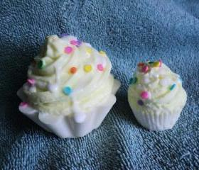 Lemon Pound Cake Cupcake Soap Set