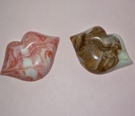 Marbled Chocolate Lips Order of 6 Valentine's Day Romance Treat