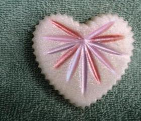 Soap - White Heart with Starburst Soap - your choice of scent