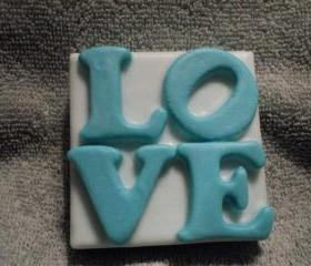 Soap - Teal Love Soap - Berries N Cream Scent