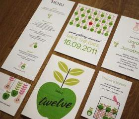 Apple and Pear Orchard Farm - Wedding Stationery Set (PRINTABLE) - Set of 6