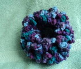 Blue and Purple Multi Colored Hair Scrunchie