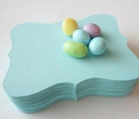 12 candy jar labels , Large Bracket cards (4.5 x 3.5 inches) in Teal Textured Cardstock A13