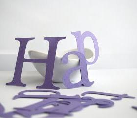 Happy birthday die cut letters in Purple for Banner (3.5 inches tall) Textured Cardstock A83