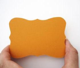24 Orange Bracket cards (3.5 x 2.5 inches) die cuts A14