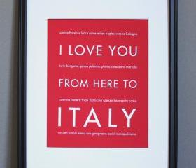 Italy art print, 8x10