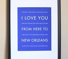 New Orleans art print, 8x10