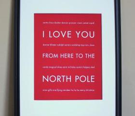 North Pole art print, 8x10