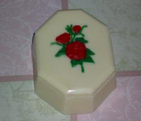 Solid Chocolate Rose Topped Candy Box Valentine Romance