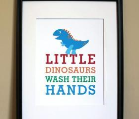Little Dinosaurs Wash Their Hands, 8x10