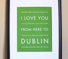 Dublin art print, 8x10