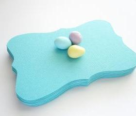 24 Bracket cards (5.5 x 3.5 inches) in Aqua Blue Textured Cardstock A18