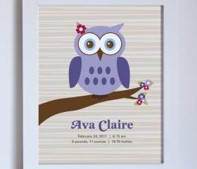 Owl Baby Birth Name, 8x10