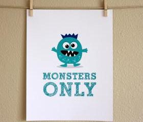 Monsters Only, 8x10