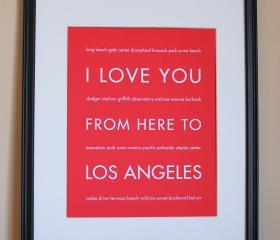 Los Angeles Art Print, 8x10