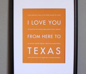 Texas art print, 8x10