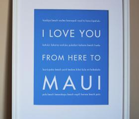 Maui art print, 8x10