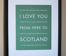 Scotland art print, 8x10