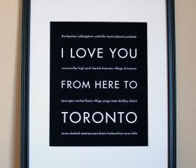 Toronto art print, 8x10