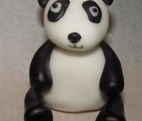 Fondant Panda Cake Topper (set of 2)