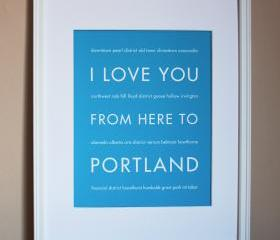 Portland art print, 8x10