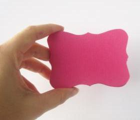 24 Valentine Bracket cards in Hot Pink Cardstock (3.5 x 2.5 inches) die cuts A104