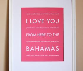 Bahamas art print, 8x10