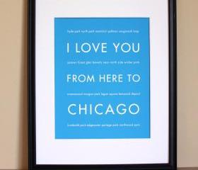 Chicago art print, 8x10