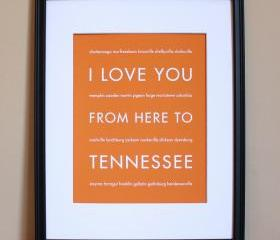 Tennessee Art Print, 8x10