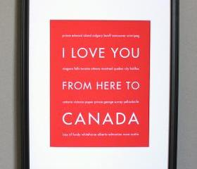 Canada Art Print, 8x10