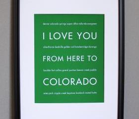 Colorado Art Print, 8x10