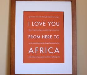 Africa Art Print, 8x10