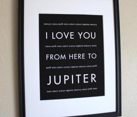 Jupiter Art Print, 8x10 