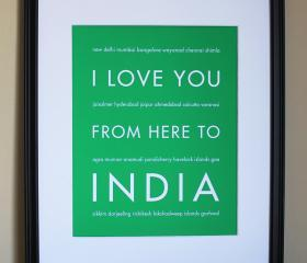 India Art Print, 8x10 
