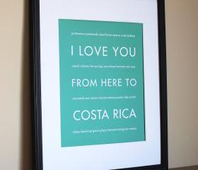 Costa Rica Art Print, 8x10